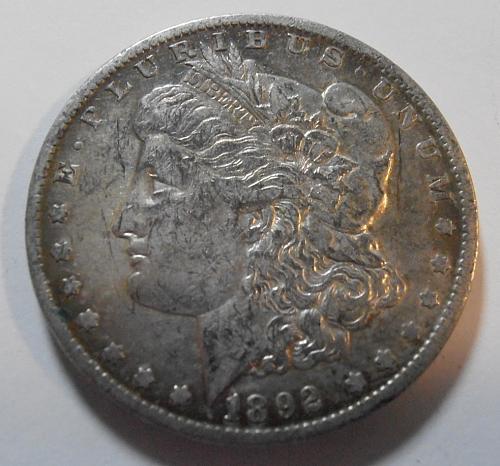 1892 O  Morgan Silver Dollar, (92OE1)