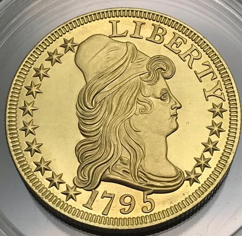 1795 Liberty Capped Bust To Right Gold Plated Coin 'COPY' Stamped