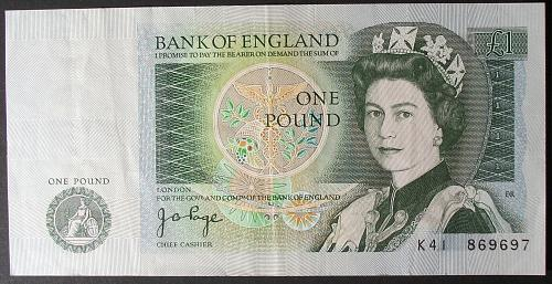 Great Britain P377a Pound VF