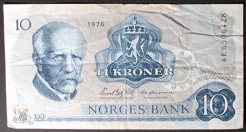 Norway P36b 10 Kroner Fine+