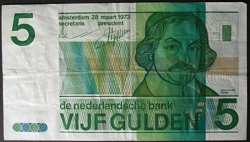 Netherlands P95a 5 Gulden F-VF