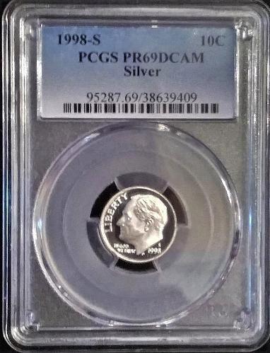 1998s silver DCAM 69 (Deep Cameo)