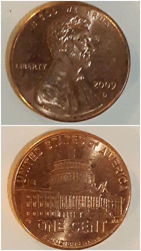2009 D Lincoln Memorial Penny