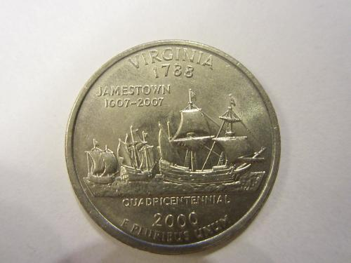 2000 D Virginia 50 States and Territories Quarters. See Pictures