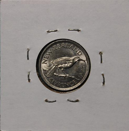 New Zealand 1943 6 pence