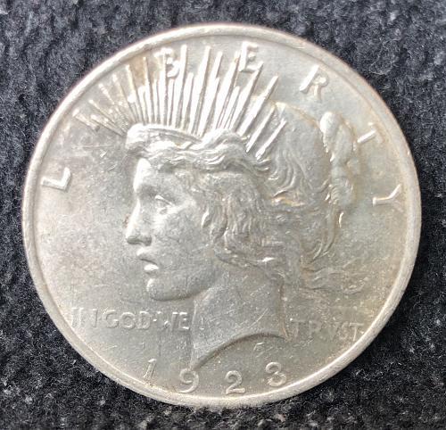 For sale a nice 1923 Philadelphia Peace silver Dollar