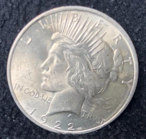 A nice 1922 Philadelphia Peace silver Dollar nice luster