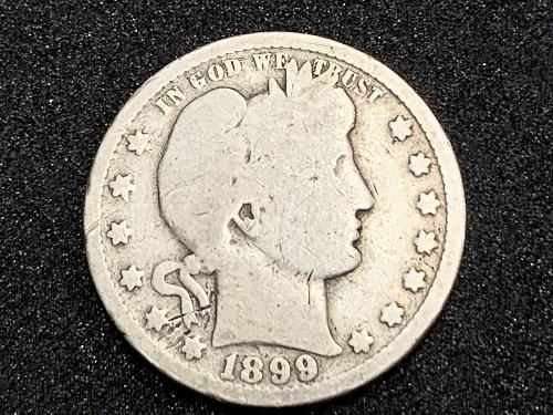 1899 P Barber Quarter