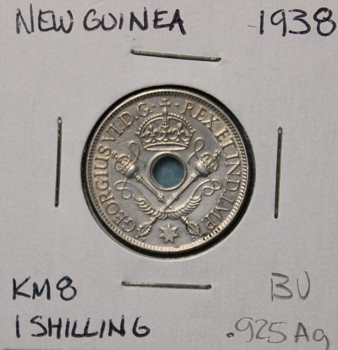 New Guinea 1938 1 shilling