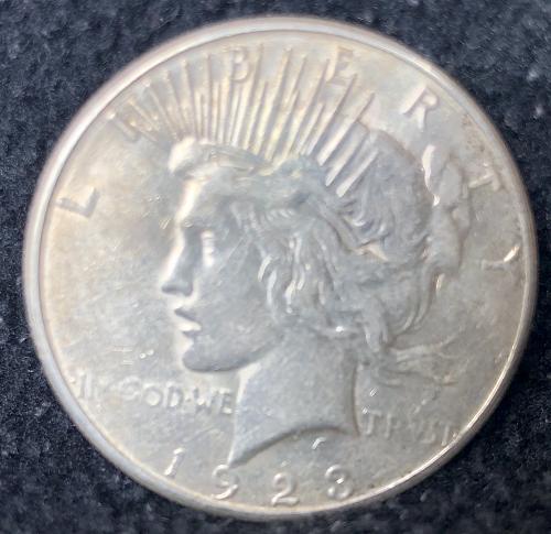 For sale a 1923 San Francisco Peace silver Dollar