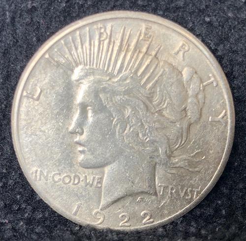 For sale a 1922 San Francisco Morgan silver Dollar