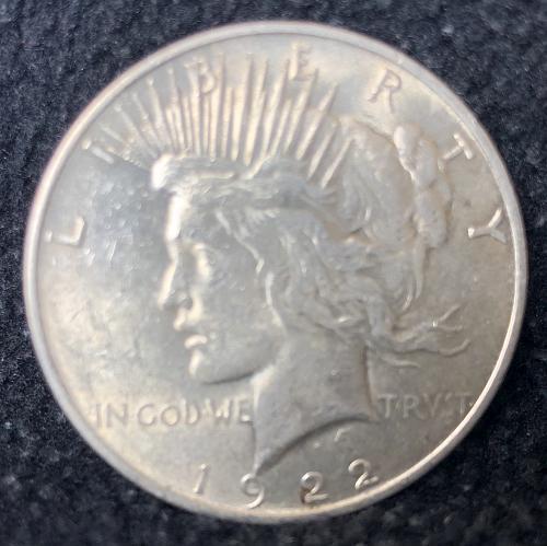 For sale a 1922 Philadelphia Peace silver Dollar