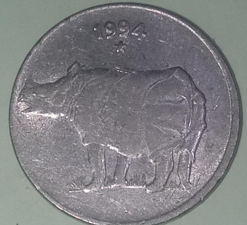 India 25 Paisa 1994... Hyderabad mint circulated