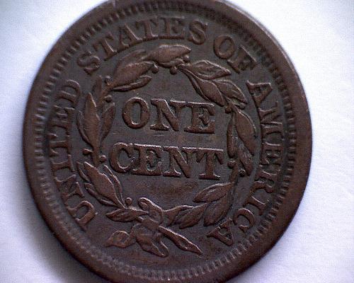 1850 P BRAIDED HAIR LIBERTY HEAD  LARGE CENT