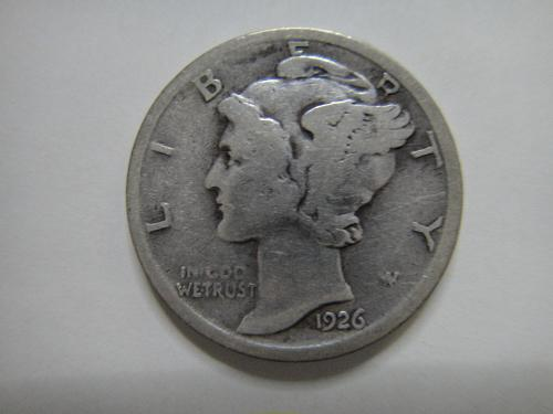 1926-D Mercury Dime Very Good-8