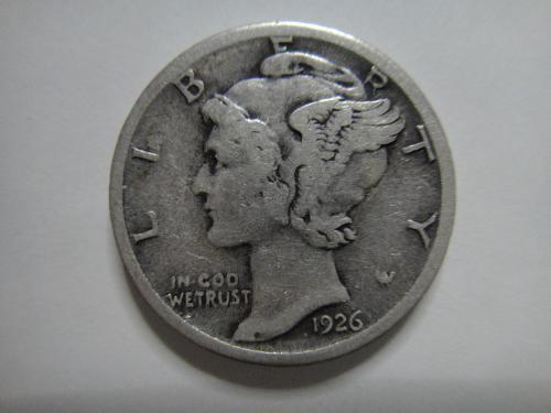 1926-S Mercury Dime Fine-15 Nice Light Grey Silver with Minimal Marks!