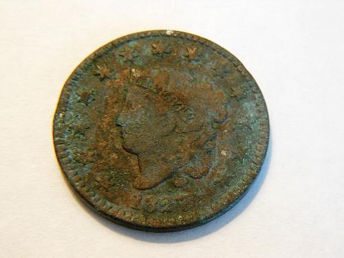 1827 Coronet Liberty Head Large Cent