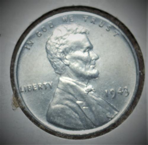 1943 Lincoln Steel Wheat Cent - BU