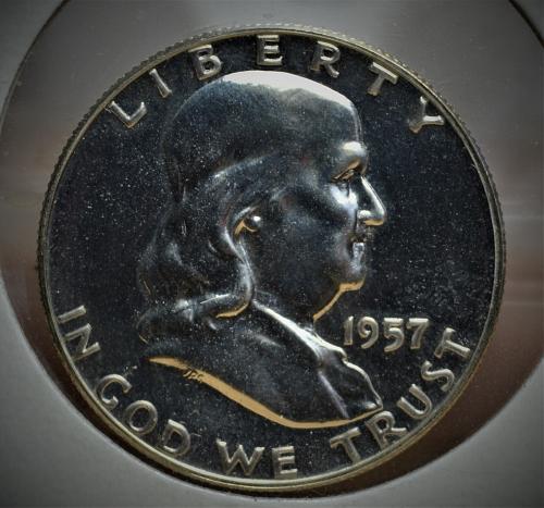 1957 Franklin Silver Half Dollar Proof