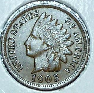 1905 Indian Cent Extra Fine Grade  ( 566 )
