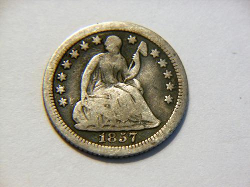 1857-O Silver Seated Liberty Half Dime