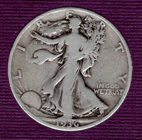 1936 P Walking Liberty Half Dollars - #5