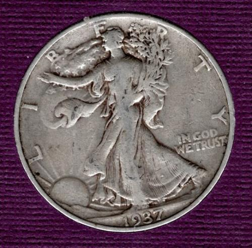1937p Walking Liberty - #4