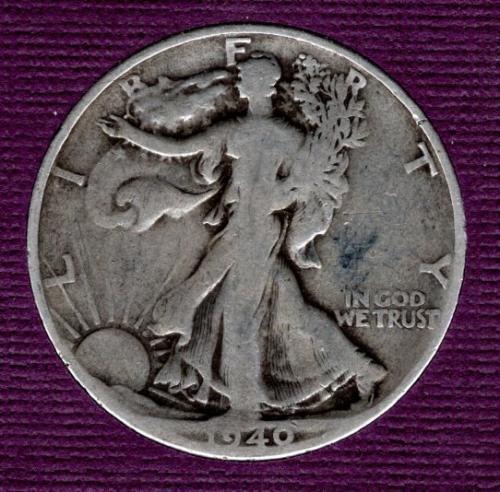 1940 S Walking Liberty Half Dollars -#4