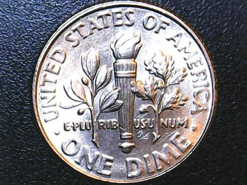 Struck Through-Full Bands 2016 P Roosevelt Dime. See Pictures