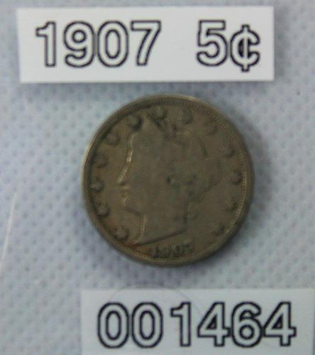 "1907 Liberty ""V"" Nickel"