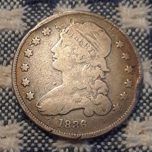 1836 Capped Bust Quarter Small G4