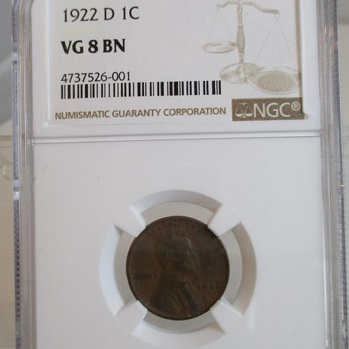 1922 D Lincoln Wheat Cent #2,  NGC SLAB