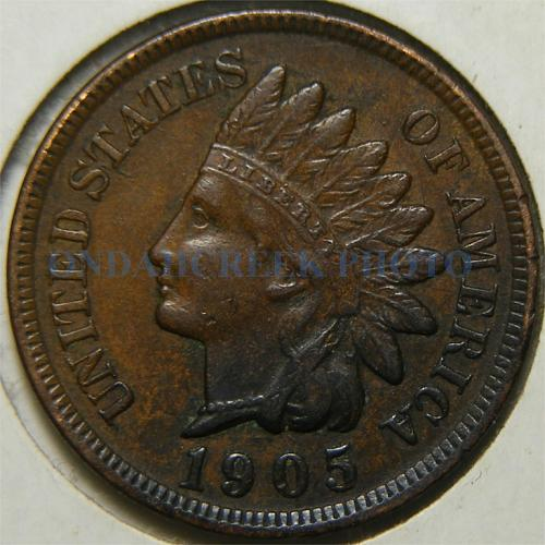 1905 Indian Cent Retained Cud Pre Cud Error