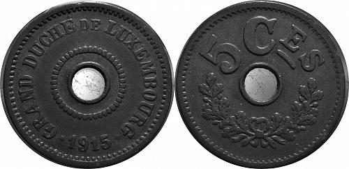 1915 Luxembourg 5 Centimes   0335