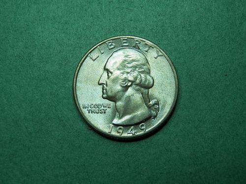 1949 D Washington Quarter Uncirculated Coin   v08