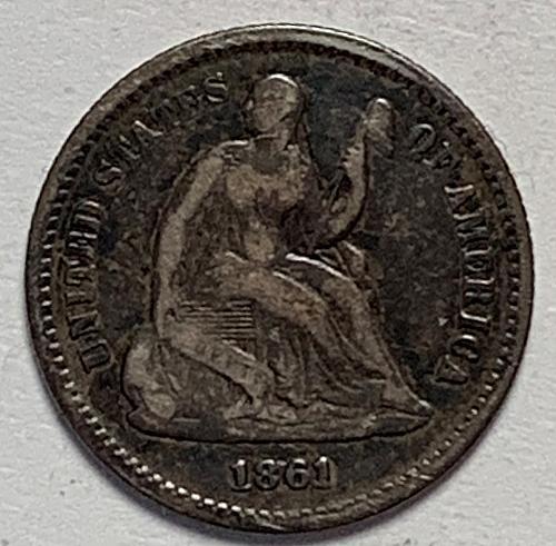 1861 Seated Liberty Half Dime VG10 [SHD 11]