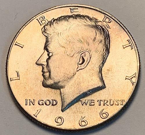 1966 Kennedy 40% Silver Half Dollar UNC [IKS 8]