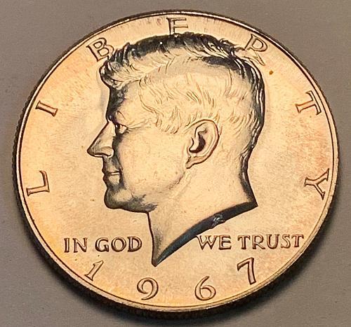 1967 Kennedy 40% Silver Half Dollar SMS [IKS 11]