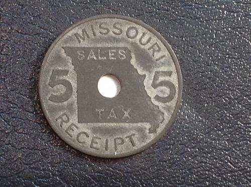 Missouri 5 mil Sales Tax Receipt