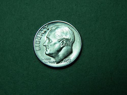 1955 S Roosevelt Dime Flashy BU Coin   u13