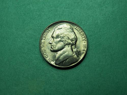 1946 D Jefferson Nickel Mint Color BU Coin   u89