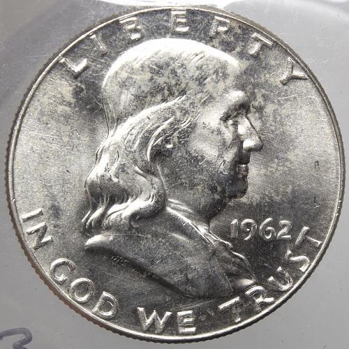 1962 D Franklin Half Dollar #8