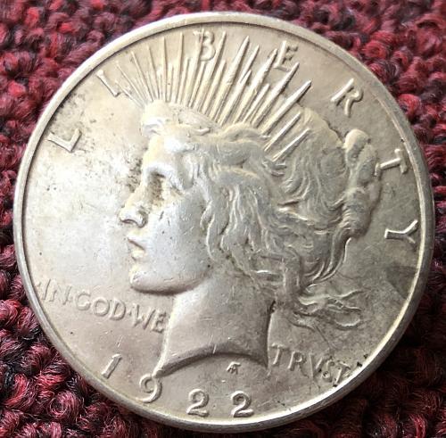 For sale a 1922 San Francisco Peace silver Dollar