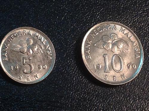 1990 Malaysia 5 & 10 Sen