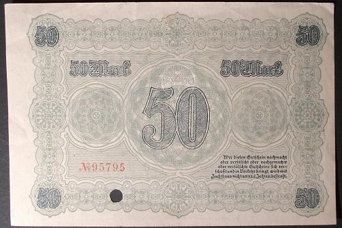 1918 Germany/Chemnitz 50 Mark VF+