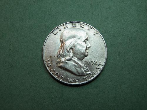 1952 D Franklin Half Dollar AU Coin   v15
