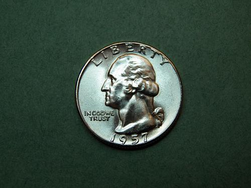 1957 P Washington Quarter Gem BU Coin   v32