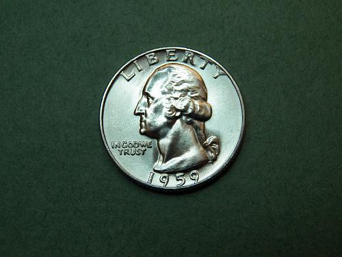 1959 D Washington Quarter Gem BU Coin   v34