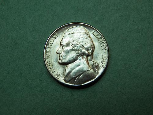 1945 D Jefferson Nickel  BU Coin   v25