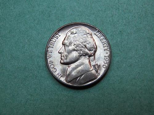 1950 D Jefferson Nickel Brilliant Uncirculated Coin   v29